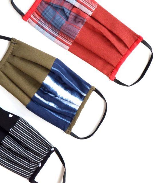 Masker kain motif fashion 3 Ply (2+1) EARLOOP bisa dicuci - beli 3 diskon 5rb/pc